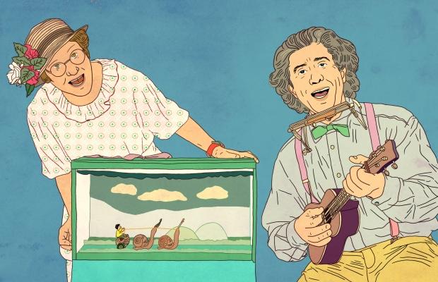 רכבת המתנות של סבא וסבתא , הצגת ילדים תיאטרון הקרון בירושלים