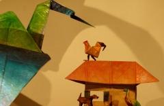 ציפור הגשם אגדת נייר, הצגת ילדים תיאטרון בובות תיאטרון הקרון בירושלים