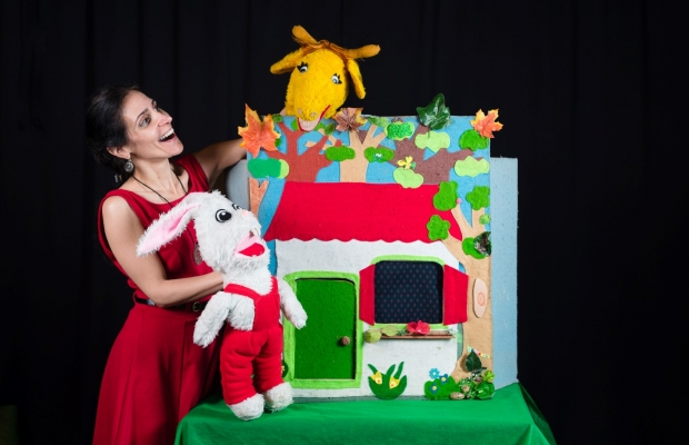 ארנבי והבלונים, תיאטרון סיפור הצגה לילדים, תיאטרון בובות תיאטרון הקרון בירושלים